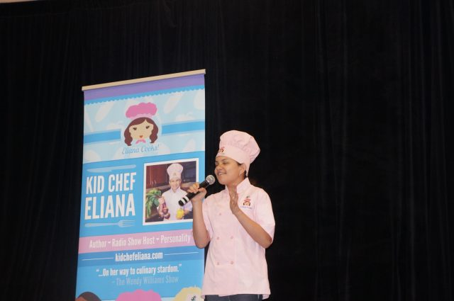 Kid Chef Eliana speaks at the NOLA Kids Expo