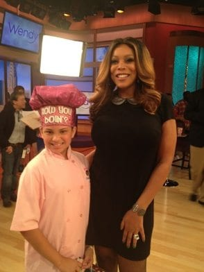 Kid Chef Eliana with Wendy Williams