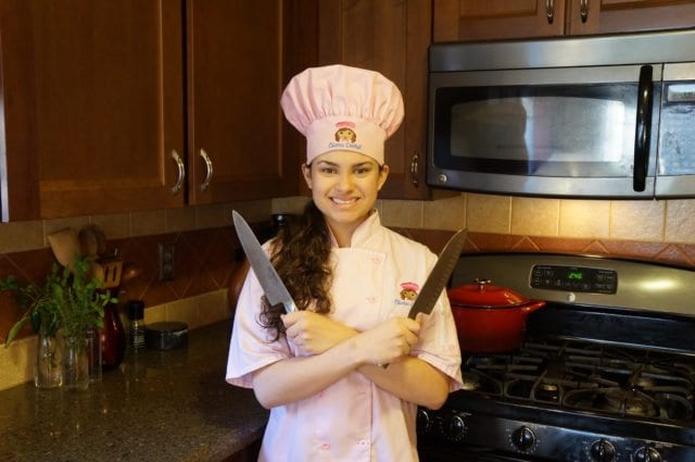 Kid Chef Eliana with her Knives 2016