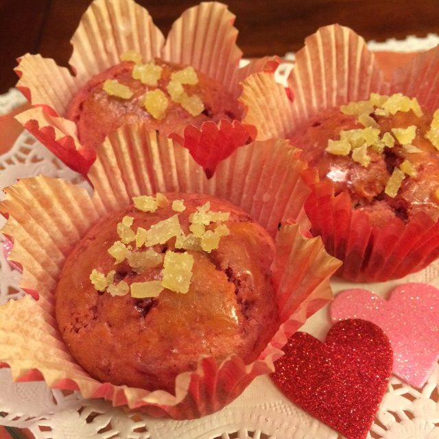 Ginger Beet Honey Muffins