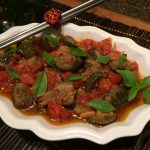 Roasted Green Thai Eggplant and Tomatoes