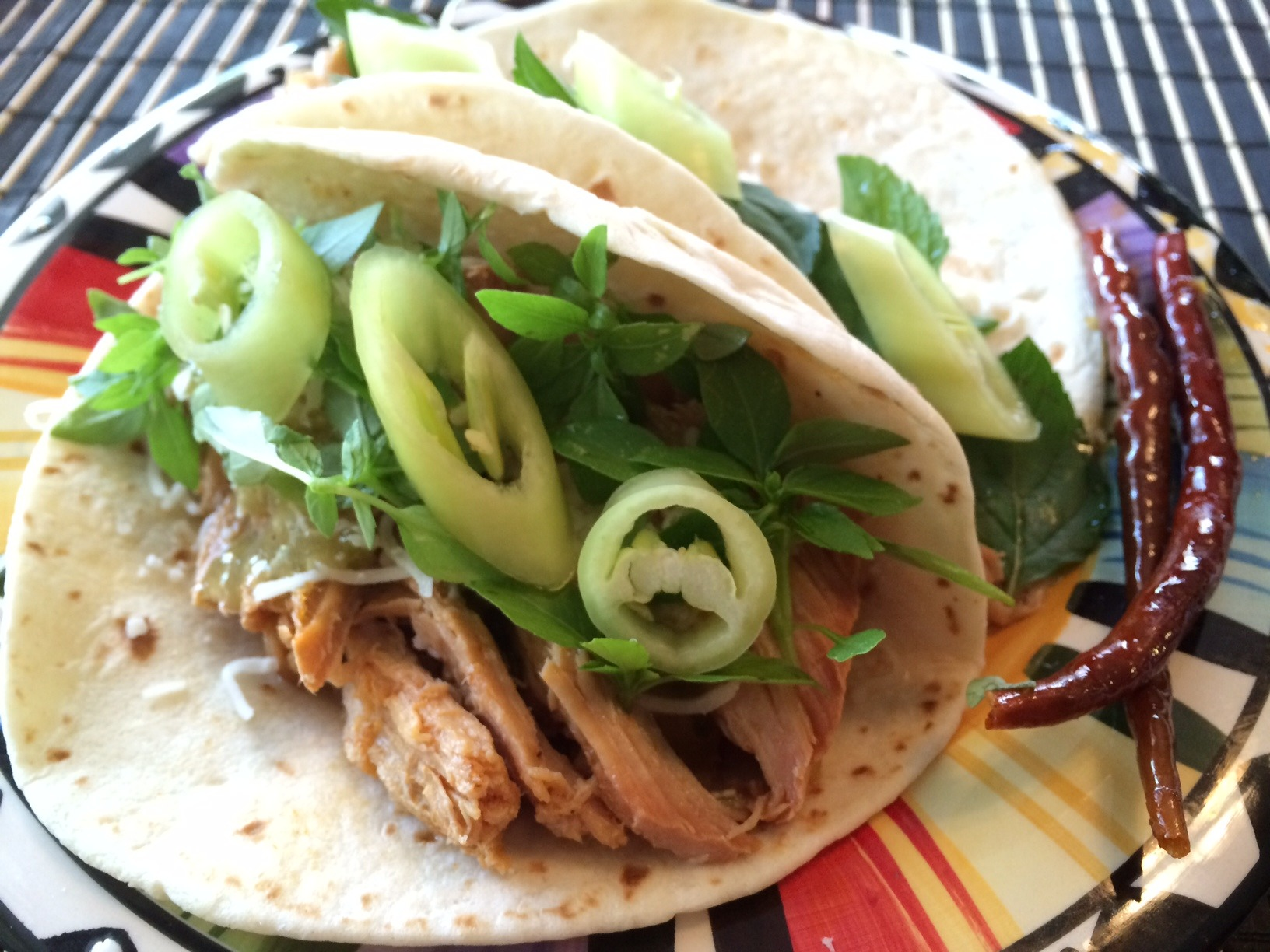 Slow Cooker Mango Pepper Pork