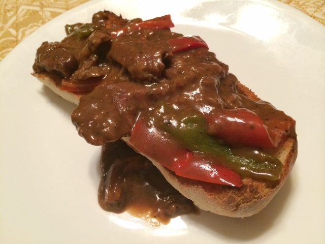 Pepper Steak with Gravy