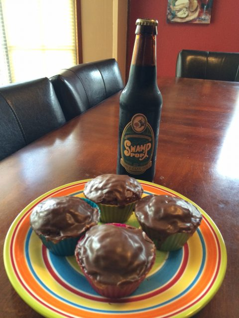 Chocolate Swamp Pop Cola Cupcakes