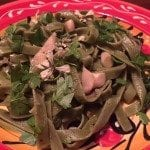 Sautéed Sesame Oyster Mushrooms with Spinach Pasta