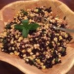 Roasted Corn, Forbidden Rice, and Mint Salad