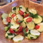 Sesame, Cucumber, and Cherry Tomato Salad