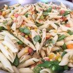 Corn and Veggie Penne Pasta