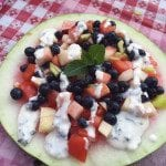 Red, White, and Blue Watermelon Salad